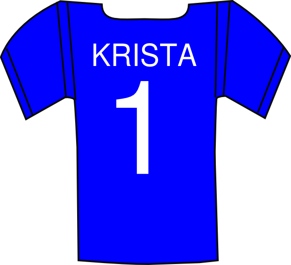 Jersey Krista Clip Art at Clker.com - vector clip art online ... image free library