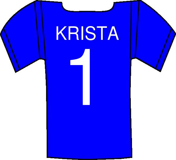 Football jersey clipart png jpg stock Jersey Krista Clip Art at Clker.com - vector clip art online ... jpg stock