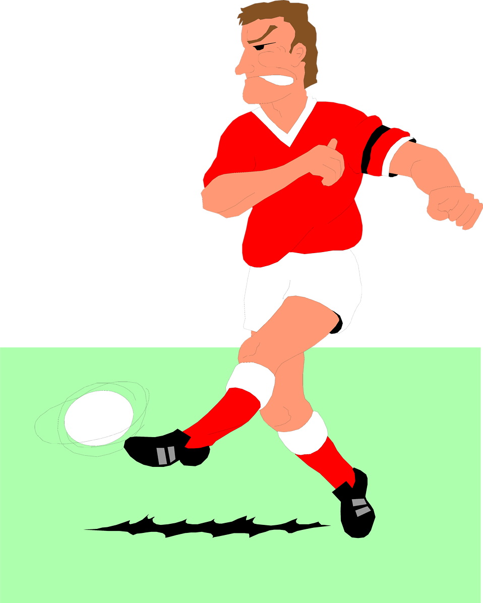 Football player catching ball clipart clip art library download Soccer | Free Stock Photo | Illustration of a man playing soccer ... clip art library download