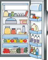 Clipart of fridge banner black and white library Free Fridge Cliparts, Download Free Clip Art, Free Clip Art on ... banner black and white library