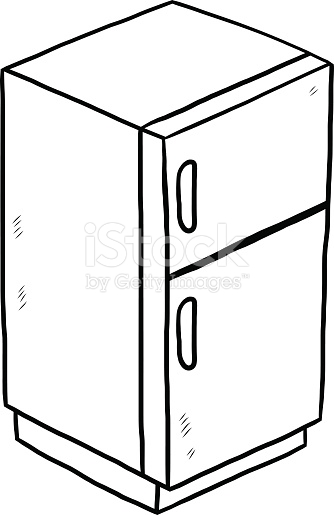 Clipart of fridge vector transparent stock Fridge clipart black and white 3 » Clipart Station vector transparent stock