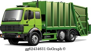 Recycling truck clipart jpg transparent stock Garbage Trucks Clip Art - Royalty Free - GoGraph jpg transparent stock