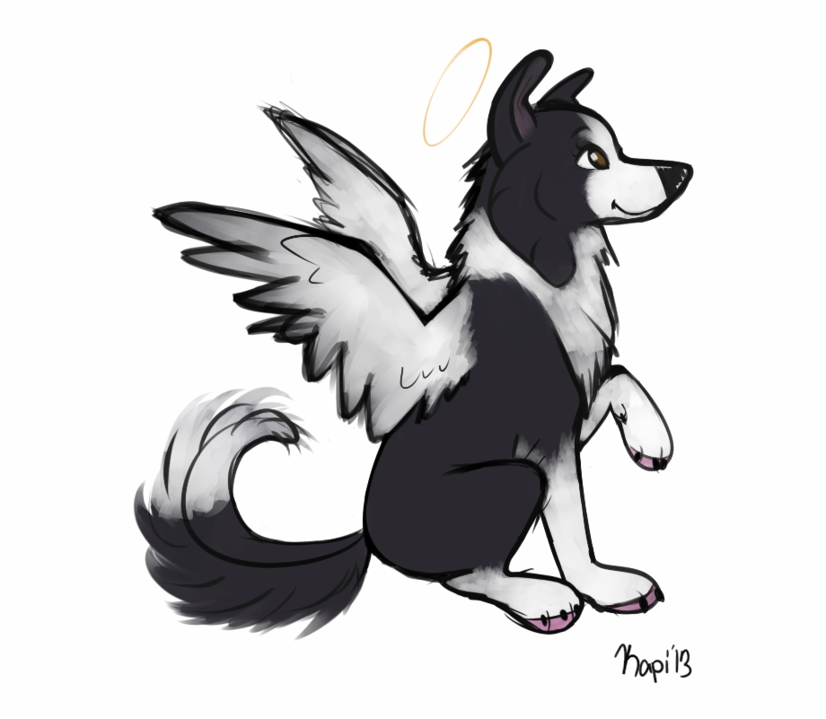 Clipart of german shepard with angel wings banner library download Dogs With Wings Drawings Free PNG Images & Clipart Download #5324401 ... banner library download