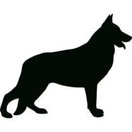 Free german shepherd silhouette clipart png free library german shepherd silhouette. tattoos | Tattoo | German shepherd ... png free library