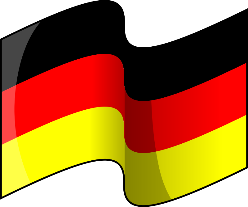 Clipart of germany svg library library Free Clipart: Flag of Germany (waving) | lemmling svg library library