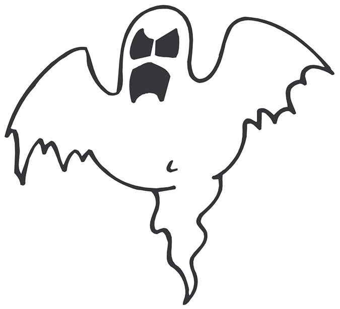 To afraid of ghoust clipart picture black and white Free Halloween Ghost Clipart, Download Free Clip Art, Free Clip Art ... picture black and white