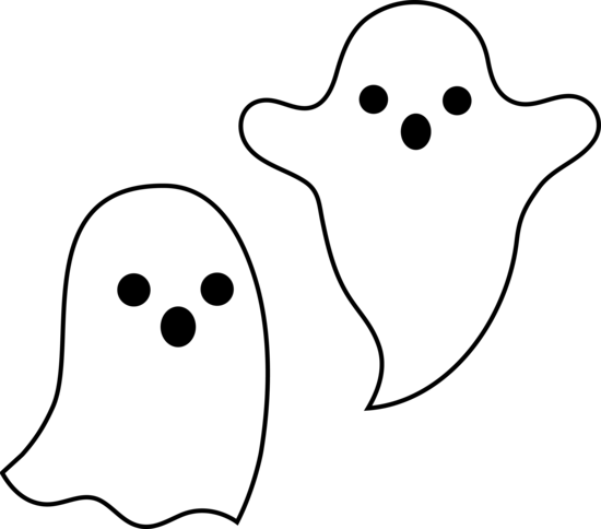 Halloween ghost pictures clipart graphic royalty free library Simple Spooky Halloween Ghosts - Free Clip Art - Drink Name Tags ... graphic royalty free library