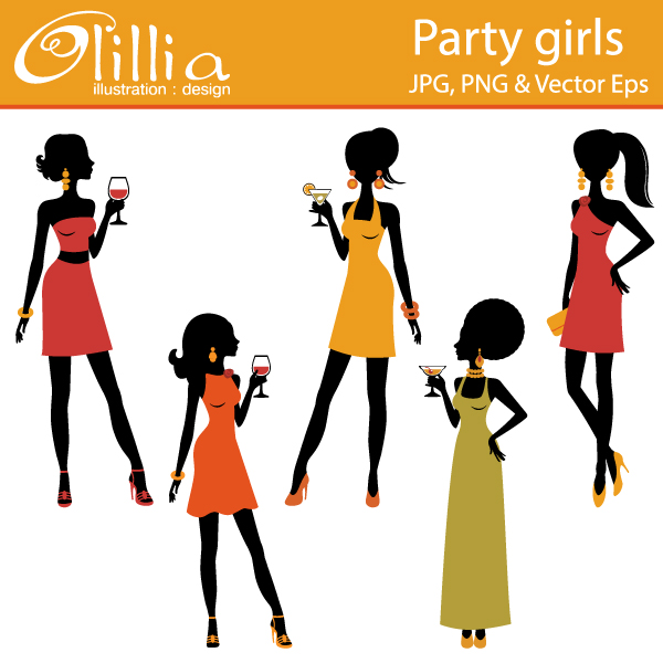 Clipart of girl at a party clipart free stock Girls Party Cliparts - Cliparts Zone clipart free stock