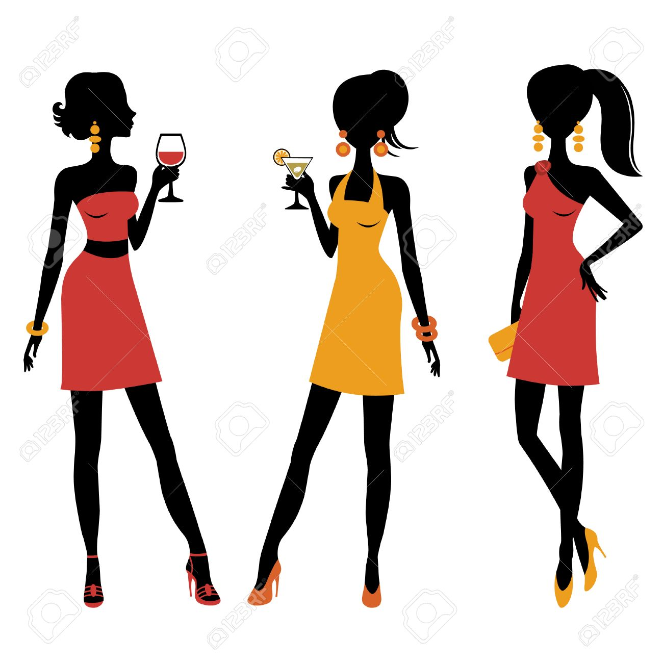 Clipart of girl at a party banner stock Cocktail Party Clipart | Free download best Cocktail Party Clipart ... banner stock