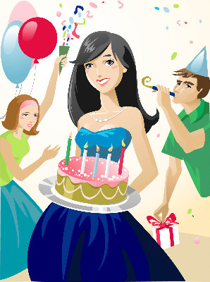 Clipart of girl at a party svg royalty free download Free Girls Party Cliparts, Download Free Clip Art, Free Clip Art on ... svg royalty free download