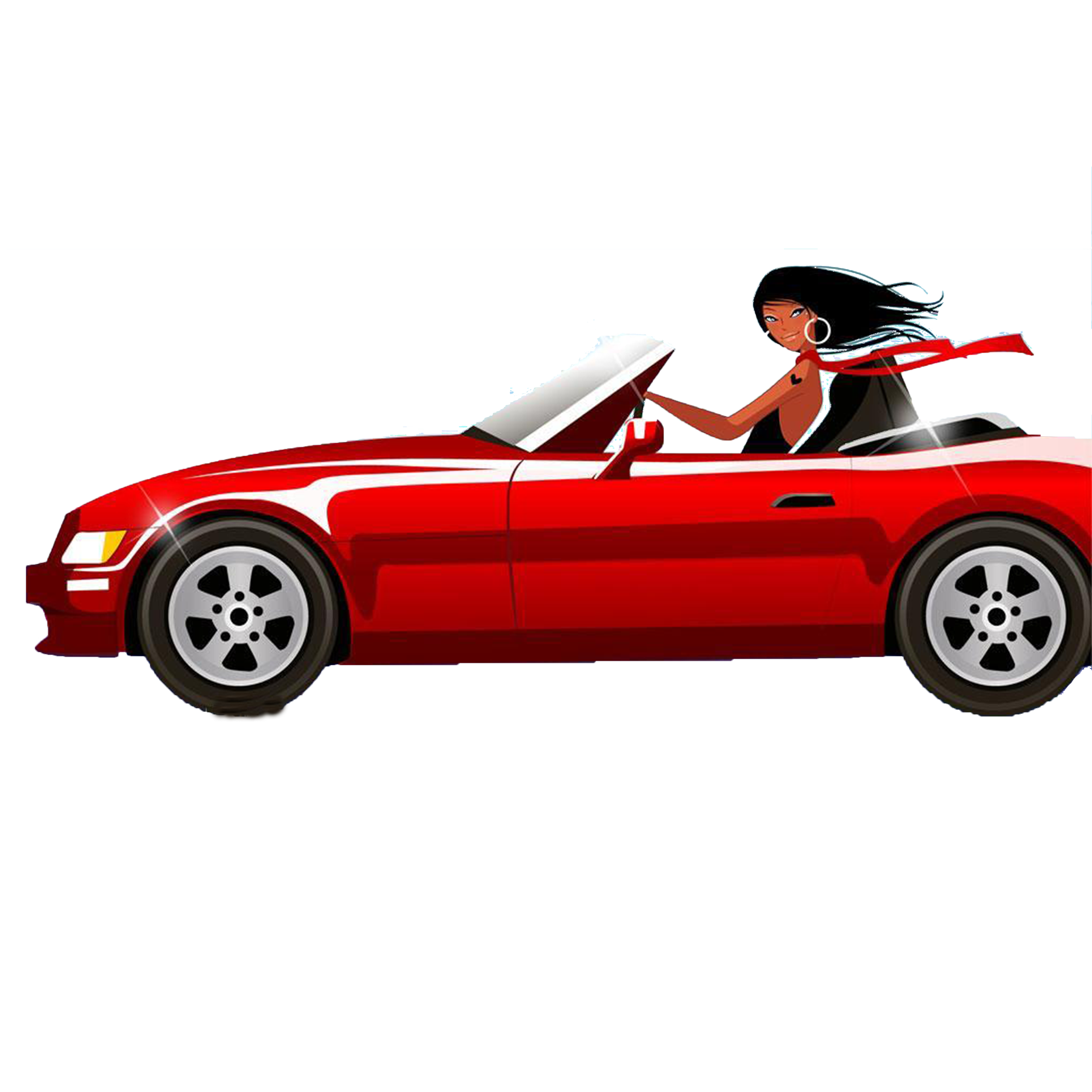 Clipart of girl driving car vector transparent download Woman Driving Royalty-free Clip art - Sports car girl 2362*2362 ... vector transparent download
