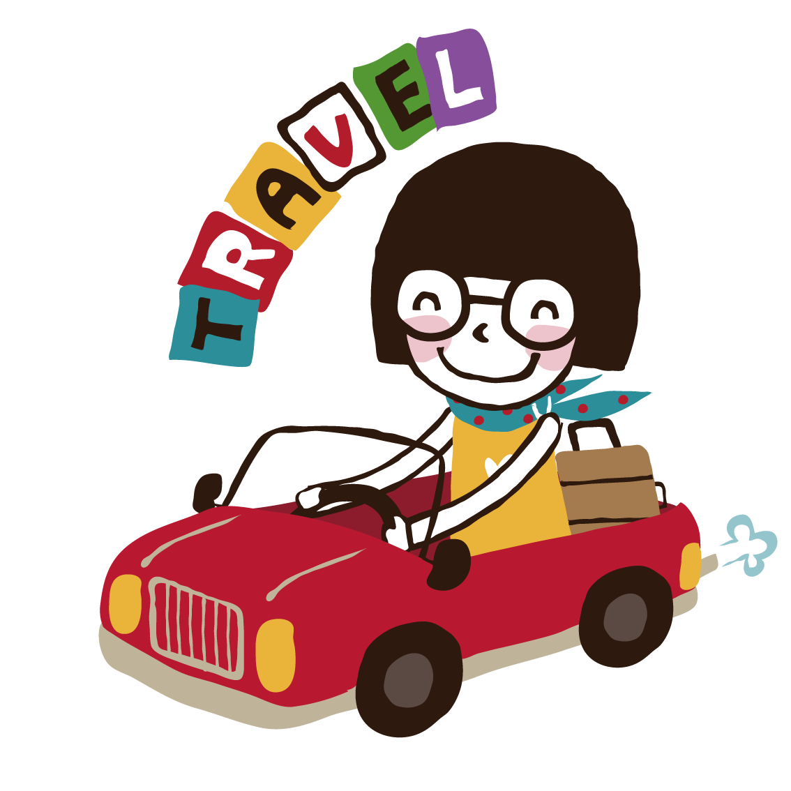 Clipart of girl driving car picture freeuse South Korea Girl Travel Car Illustration - The little girl driving ... picture freeuse