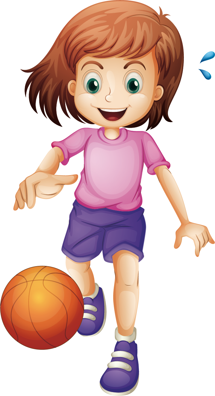 Clipart of girl playing basketball clipart library download Basketball Cartoon Girl Clip art - Children play basketball 718*1321 ... clipart library download
