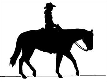 Clipart of girl riding a paint pony barrel racing svg free stock Cowboy on horse silhouette - free clipart graphic | AIRBRUSH ... svg free stock