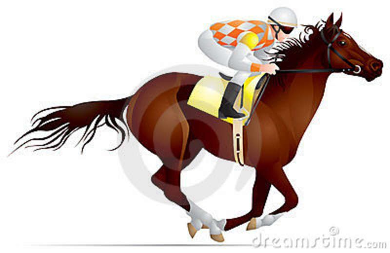 Clipart of girl riding a paint pony barrel racing picture freeuse stock race horse clip art | ... on the horse, Derby, Equestrian sport ... picture freeuse stock