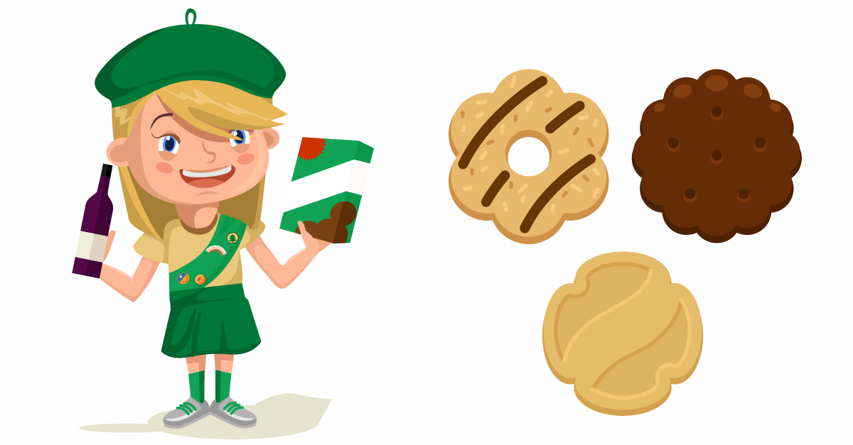 Girl scout cookies clipart vector free download Girl Scout Cookies Clipart | Free download best Girl Scout Cookies ... vector free download