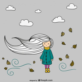 Clipart of girl with arms up enjoying the wind svg freeuse Wind Vectors, Photos and PSD files   Free Download svg freeuse