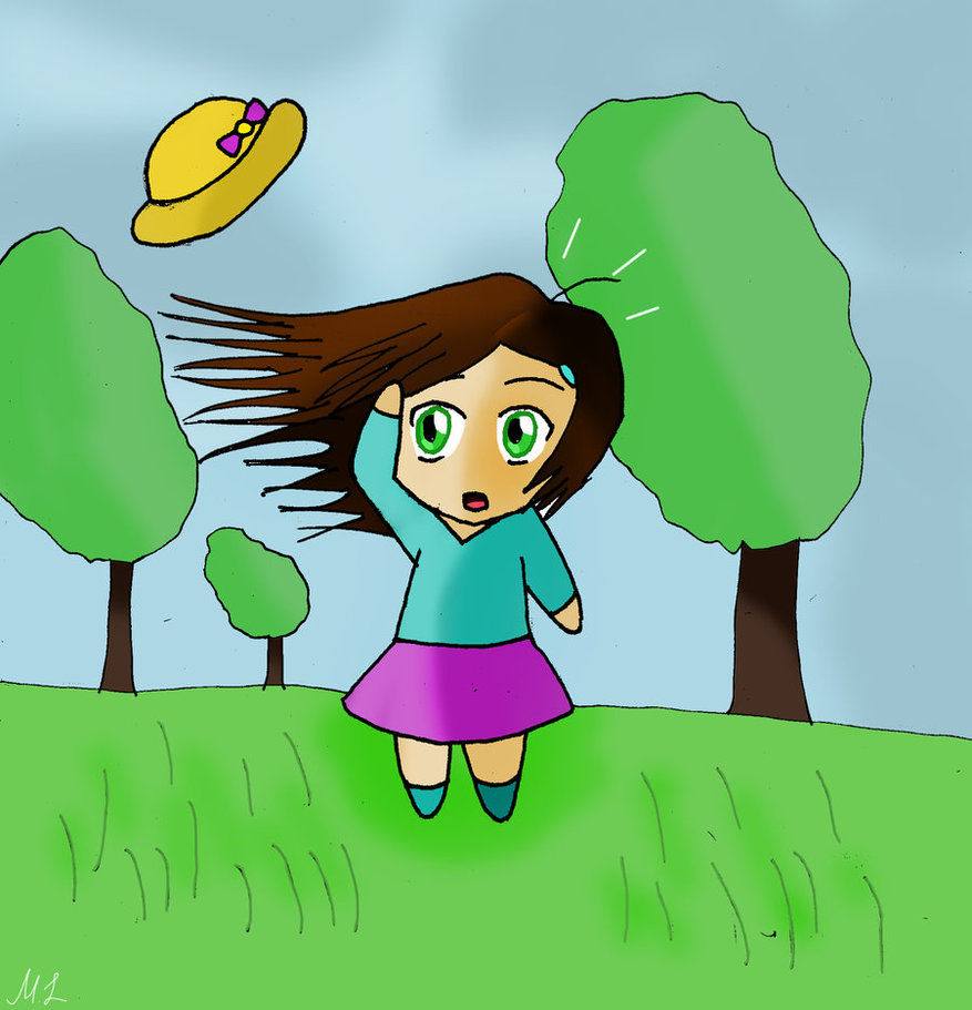 Clipart of girl with arms up enjoying the wind picture free download Free Windy Cliparts, Download Free Clip Art, Free Clip Art on ... picture free download