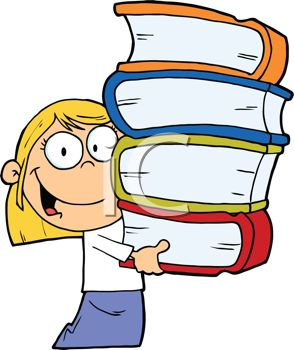 Clipart of girl with books graphic free Clipart of girl with books - ClipartFest graphic free