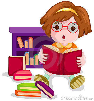 Clipart of girl with books image freeuse download Girl reading books clipart - ClipartFest image freeuse download