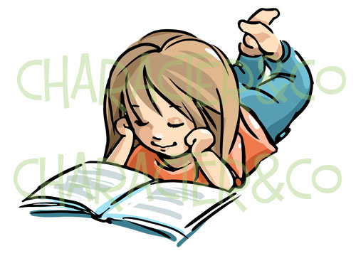 Clipart of girl with books vector transparent Girl With Book Clipart - Clipart Kid vector transparent