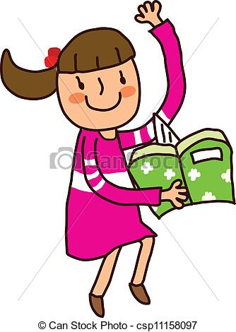 Clipart of girl with books jpg free library Girl and books clipart - ClipartFox jpg free library