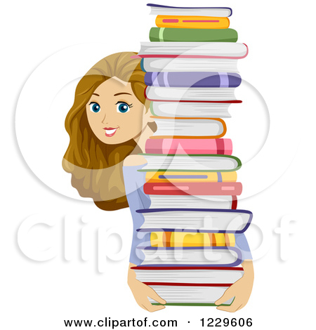 Clipart of girl with books image free stock Clipart of girl with books - ClipartFest image free stock
