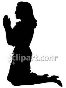 Free clipart woman praying