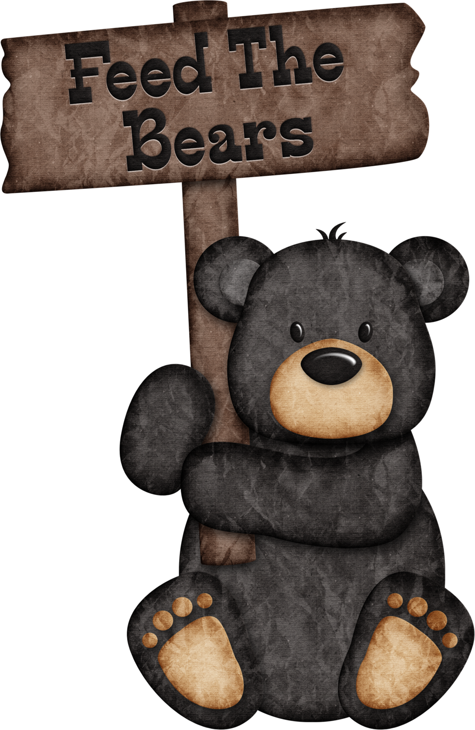 Clipart of grizzly bear with tattoos holding chainsaw clip art free Feed The Bears - Black Bear ༺♛ Christine Staniforth ♛༻ | Designs ... clip art free