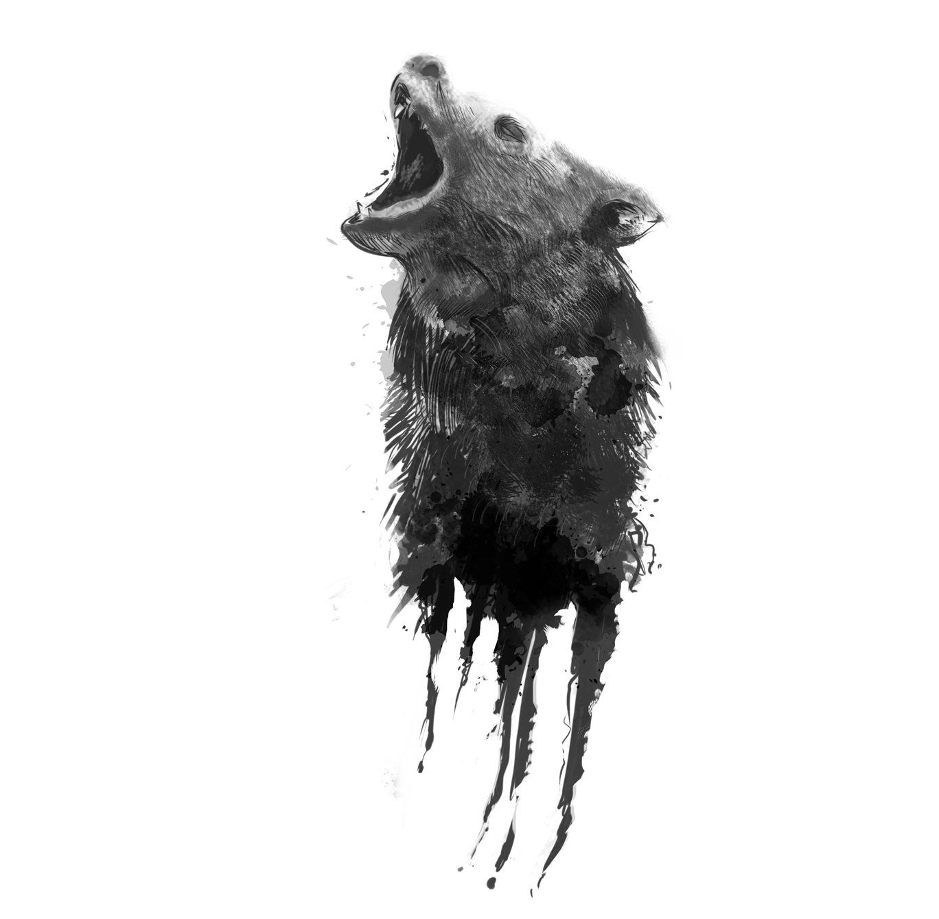 Clipart of grizzly bear with tattoos holding chainsaw picture royalty free Unstoppable | Products | Wolf tattoos, Temporary tattoo designs, Tattoos picture royalty free