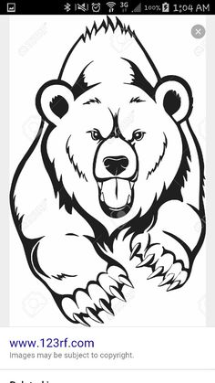 Clipart of grizzly bear with tattoos holding chainsaw clip royalty free 260 Best Make this picture now images in 2019 | Wood projects ... clip royalty free