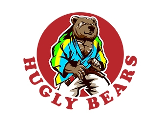 Clipart of grizzly bear with tattoos holding chainsaw jpg free Lovable Bear logo design for only $29! - 48hourslogo jpg free