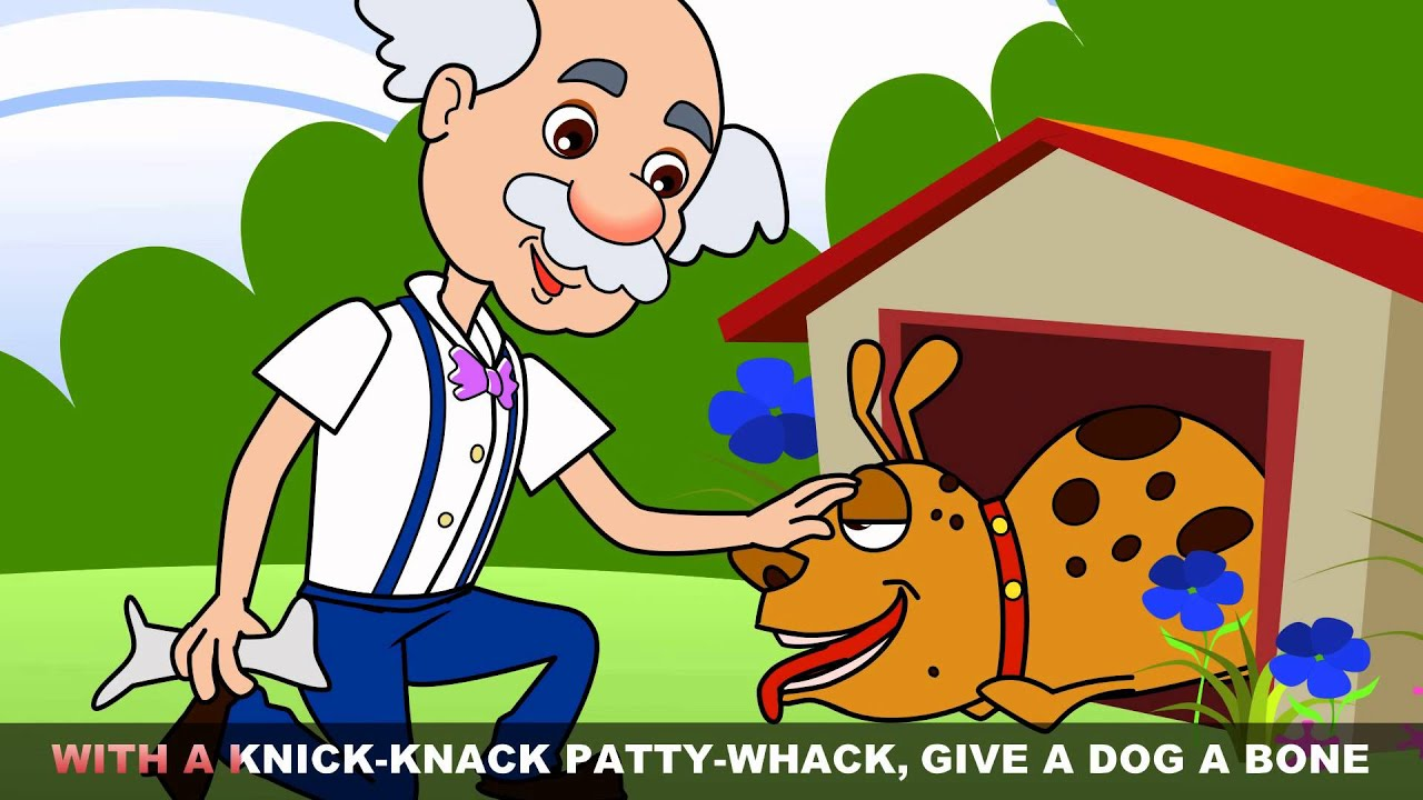 Clipart of guy going through three doors graphic freeuse library This Old Man He Played One - Kids songs and nursery rhymes by EFlashApps graphic freeuse library
