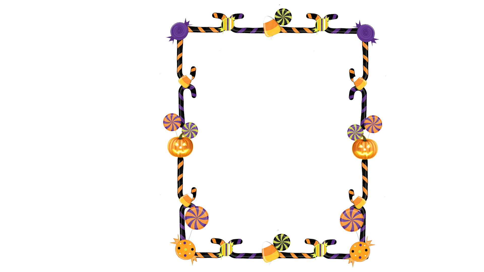 Clipart of halloween borders banner library 28+ Collection of Halloween Candy Clipart Transparent | High quality ... banner library