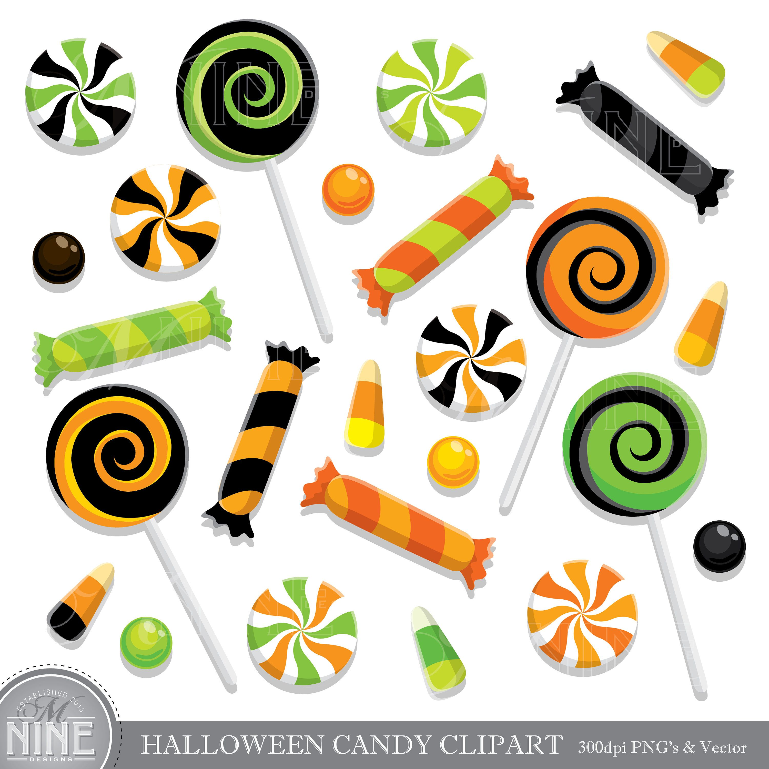 Clipart of halloween candy banner royalty free library HALLOWEEN CANDY Clip Art / Halloween CANDY Clipart Downloads / Candy ... banner royalty free library