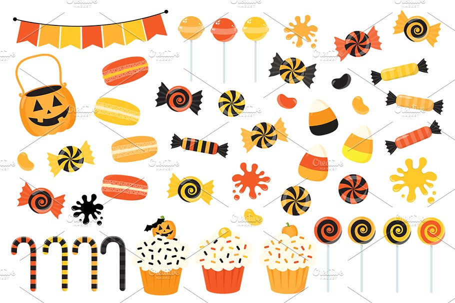 Clipart of halloween candy royalty free Orange Halloween Candy Clipart royalty free