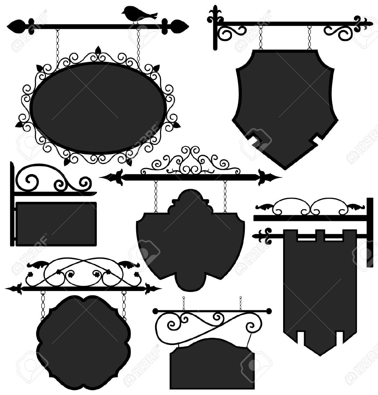 Medieval banner hanging from a pole clipart svg freeuse library awning storefront clipart - Google Search | Cute Clipart and ... svg freeuse library