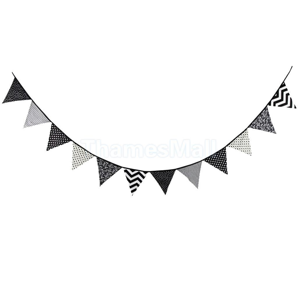 Clipart of hanging banner black and white clip art library download Triangle Pennant Banner Hanging Flag Cotton Bunting Party Decor 3.2m ... clip art library download