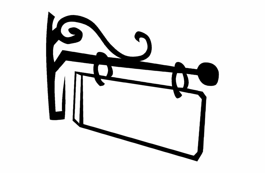 Clipart of hanging banner black and white free library Banner Library Library Blank Street Sign Clipart Black - Hanging ... free library