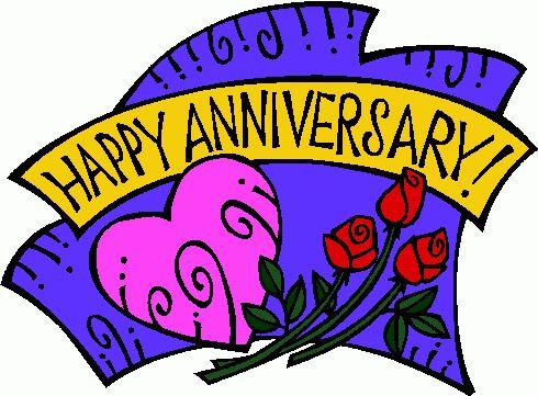 Clipart of happy anniversary