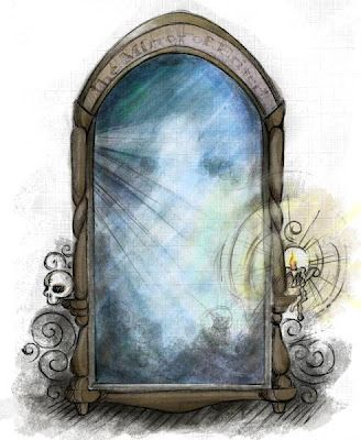 Clipart of harry potter and the mirror of erised graphic royalty free stock The Mirror of Erised....just realized Erided is desire backwards ... graphic royalty free stock