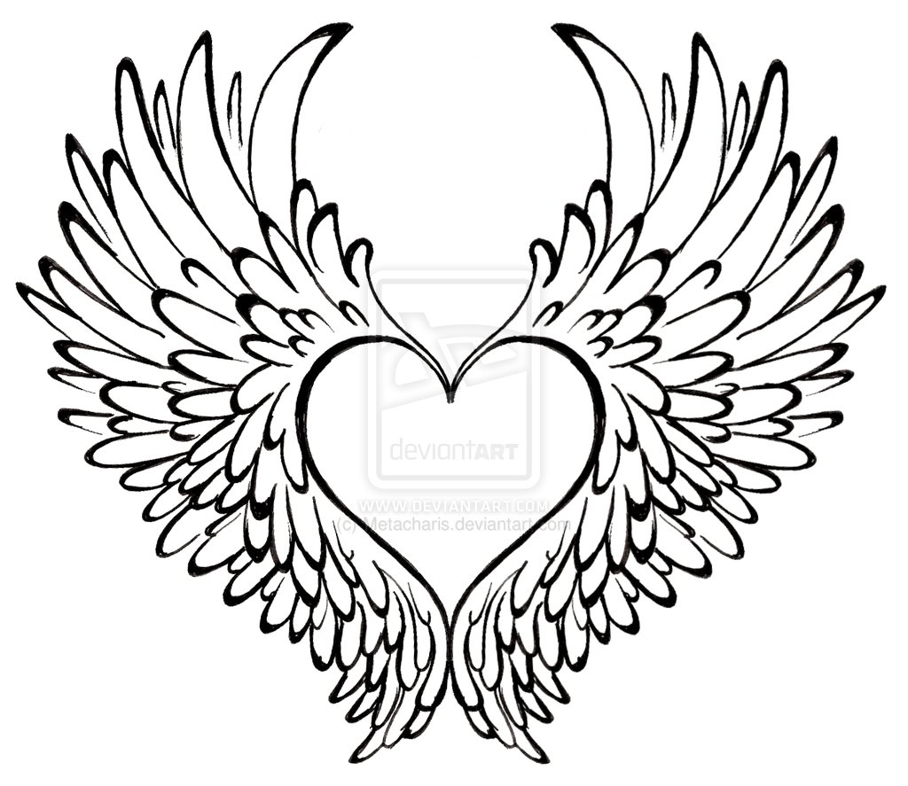 Clipart of hearts with wings and roses png free stock Hearts with wings and roses clipart - ClipartFest png free stock