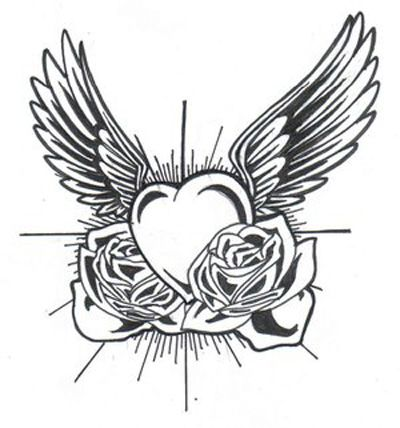 Clipart of hearts with wings and roses clip royalty free stock 17 Best images about Heart and wings on Pinterest | Wings, Short ... clip royalty free stock
