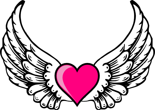 Clipart of hearts with wings and roses transparent stock Clipart of hearts with wings and roses - ClipartFest transparent stock