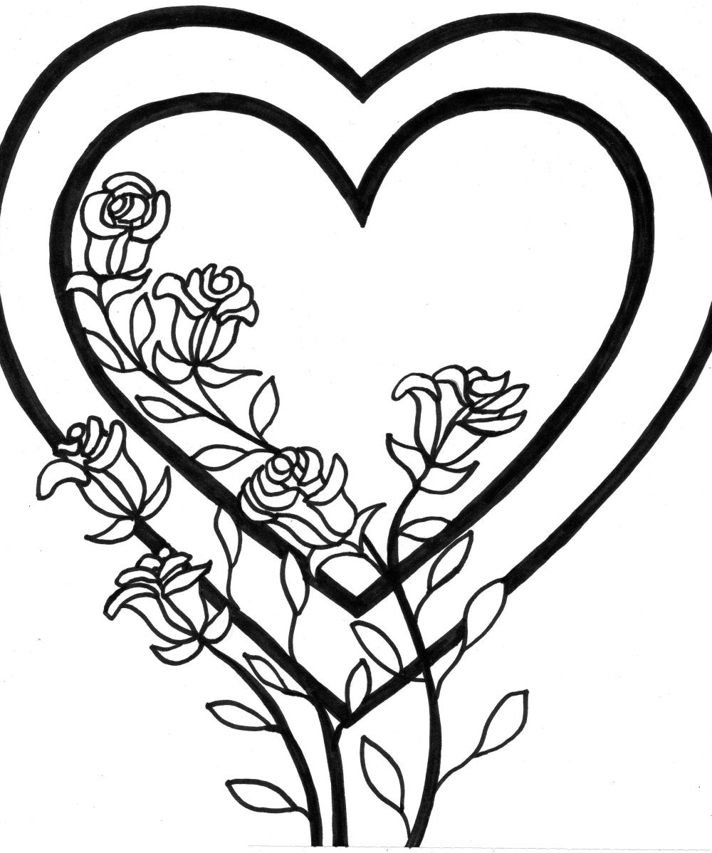 Clipart of hearts with wings and roses clipart free stock Hearts With Wings Coloring Pages | Free Download Clip Art | Free ... clipart free stock