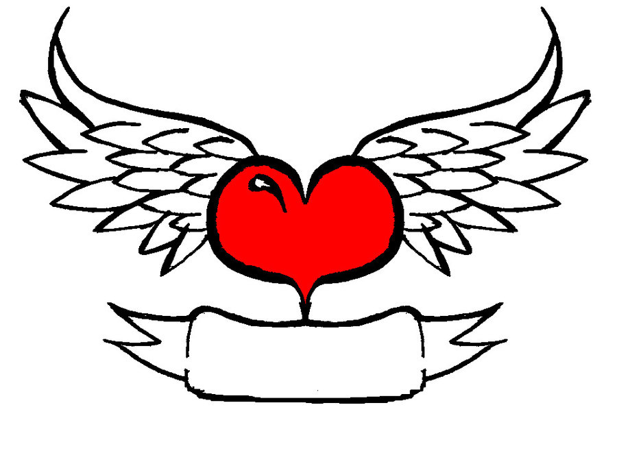 Clipart of hearts with wings and roses svg library stock Clipart of hearts with wings and roses - ClipartFest svg library stock