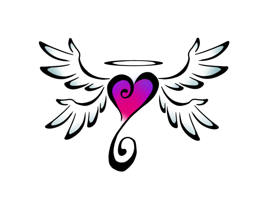 Clipart of hearts with wings and roses svg library stock Coloring Pages Of Hearts With Wings And Roses - Decimamas svg library stock