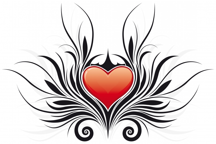 Clipart of hearts with wings and roses picture black and white Hearts With Wings Pictures | Free Download Clip Art | Free Clip ... picture black and white
