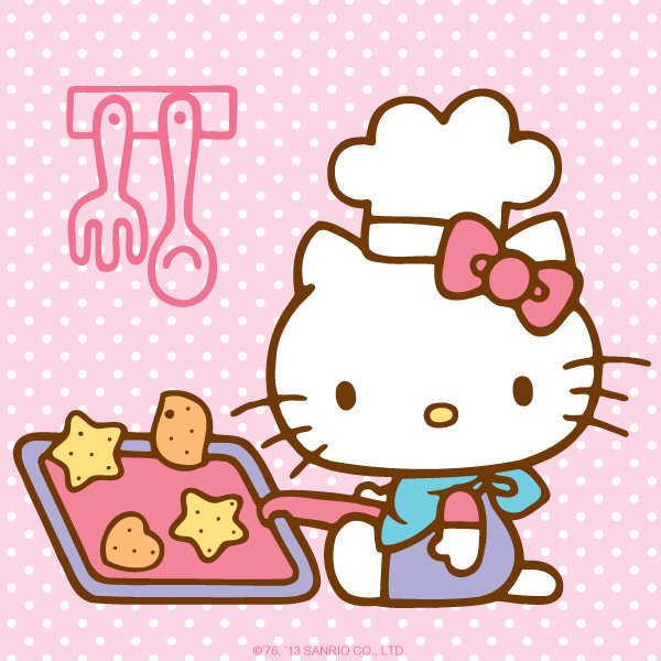 Clipart of hello kitty baking in the kitchen clip art stock Doki Doki Crate on Twitter: \