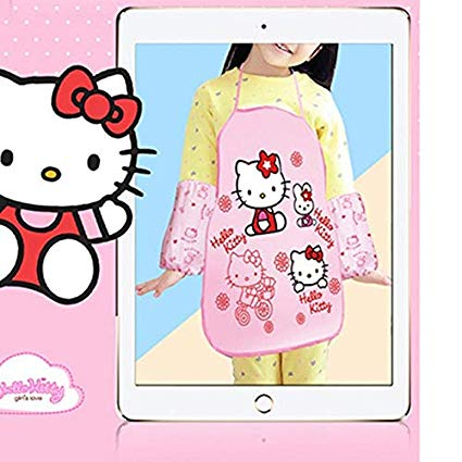 Clipart of hello kitty baking in the kitchen clip download Virtue Keythemelife Hello Kitty Doraemon Apron Sleeveless Cooking ... clip download